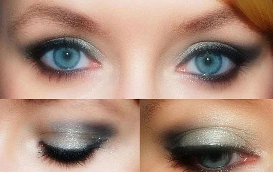 maquillage du visage les œils et cils