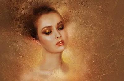 Maquillage soirée explosif de paillettes or