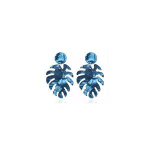 Boucles feuilles bleu