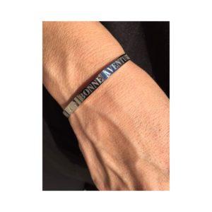 """Bracelet acier """"bonne aventure"""""""