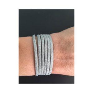 Bracelet argent irisé