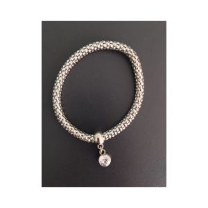 Bracelet rond strass gris