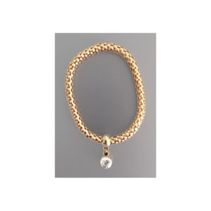 Bracelet rond strass or