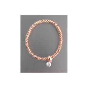 Bracelet rond strass or rose