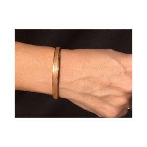Bracelet acier inoxydable doré irisé